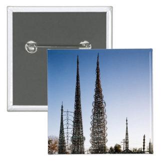 Watts Towers Los Angeles 15 Cm Square Badge