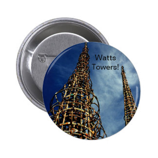Watts Towers, Los Angeles 6 Cm Round Badge
