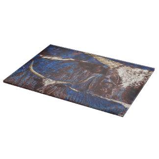 Watusi Blues Glass Cutting Board