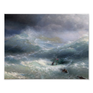 Wave (1889), Ivan Aivazovsky Poster