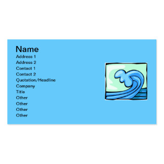 WAVE 803 BLUES OCEAN SURFING SURF CRASHING SPORTS PACK OF STANDARD BUSINESS CARDS