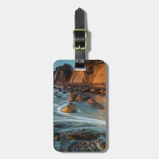 Wave along the beach, California Luggage Tag