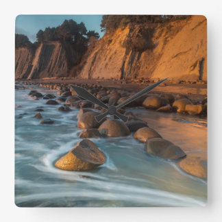 Wave along the beach, California Square Wall Clock