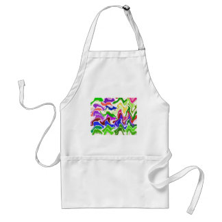 Wave Artistic Sensual TEMPLATE easy add TEXT IMAGE Apron