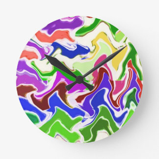 Wave Artistic Sensual TEMPLATE easy add TEXT IMAGE Wall Clocks