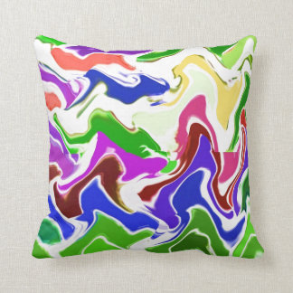 Wave Artistic Sensual TEMPLATE easy add TEXT IMAGE Throw Pillow