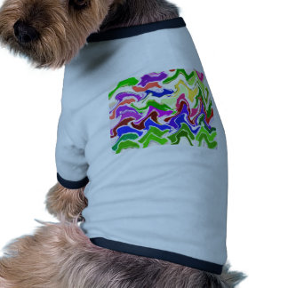 Wave Artistic Sensual TEMPLATE easy add TEXT IMAGE Doggie Shirt