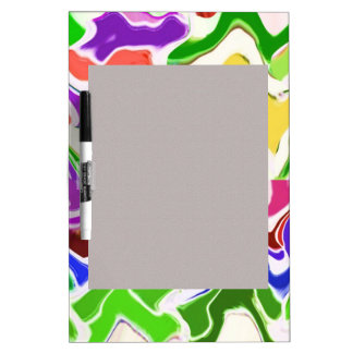 Wave Artistic Sensual TEMPLATE easy add TEXT IMAGE Dry-Erase Whiteboards