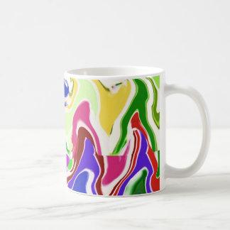 Wave Artistic Sensual TEMPLATE easy add TEXT IMAGE Coffee Mug
