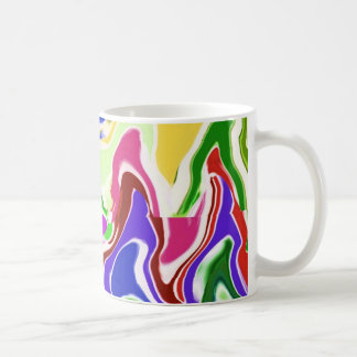 Wave Artistic Sensual TEMPLATE easy add TEXT IMAGE Mugs
