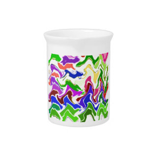Wave Artistic Sensual TEMPLATE easy add TEXT IMAGE Beverage Pitcher