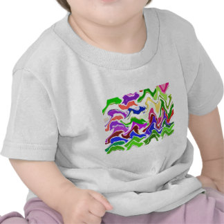 Wave Artistic Sensual TEMPLATE easy add TEXT IMAGE Tee Shirts