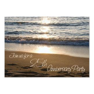 Wave at Sunset 25th Anniversary Invitation Card
