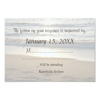 Wave at Sunset RSVP Wedding Card 9 Cm X 13 Cm Invitation Card