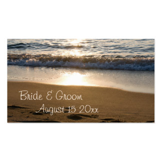 Wave at Sunset Wedding Favor Tags Business Cards