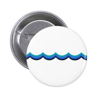 Wave 6 Cm Round Badge