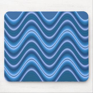 wave blue mouse mat