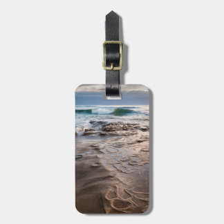 Wave breaking on beach, California Luggage Tag