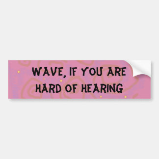 Wave Bumper Sticker