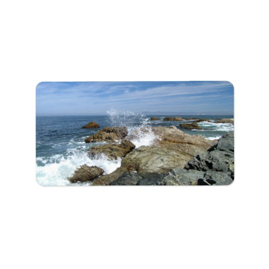 Wave Burst; Mailing Necessities Label