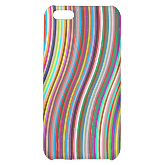 Wave colorful strips iPhone 5C cases