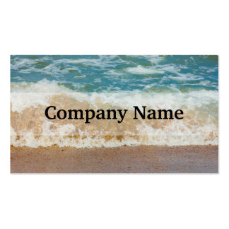 Wave Crashing On The Shore, Sea Photograph Double-Sided Standard Business Cards (Pack Of 100)
