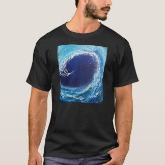 Wave Curl basic black t-shirt