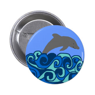 Wave curl dolphin button