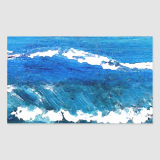 Wave Dance - cricketdiane ocean decor Rectangle Stickers