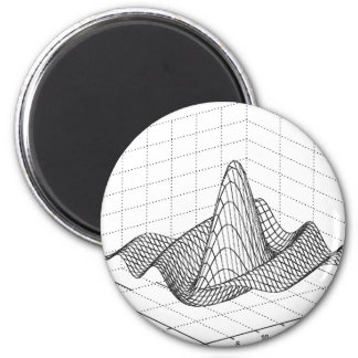 Wave Function 6 Cm Round Magnet