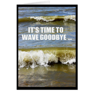 Wave Goodbye To Your Teens - Happy 20th Birthday Greeting Card