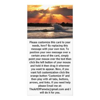 Wave Hugging Sunset Photo Cards