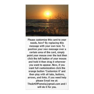 Wave Hugging the Sun Photo Greeting Card