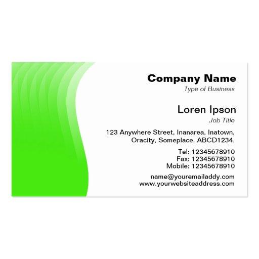 Wave Margin - Green Business Card Template