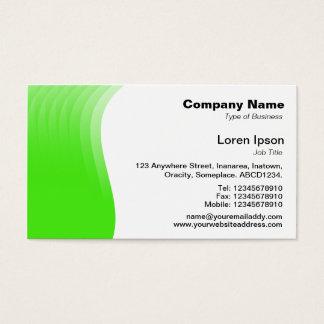 Wave Margin - Green Business Card