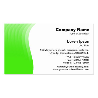 Wave Margin - Green Pack Of Standard Business Cards