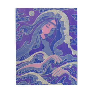 Wave, Mermaid, Fantasy Art Asian Girl, Blue & Pink