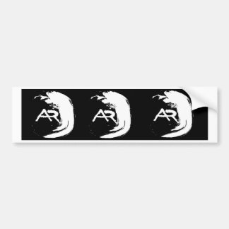 Wave monogram bumper sticker