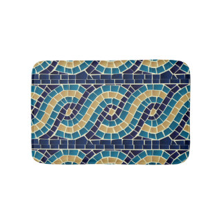 Wave Mosaic Pattern Bath Mat