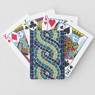 Wave Mosaic Pattern Bicycle Playing Cards
