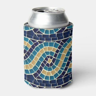 Wave Mosaic Pattern Can Cooler