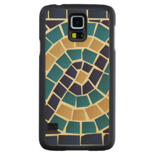 Wave Mosaic Pattern Carved Maple Galaxy S5 Case