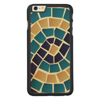 Wave Mosaic Pattern Carved Maple iPhone 6 Plus Case