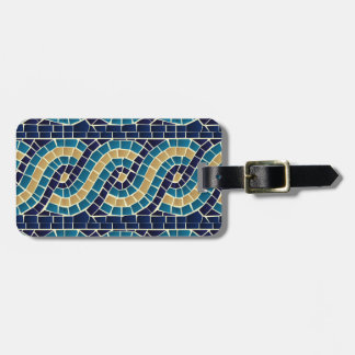 Wave Mosaic Pattern Luggage Tag