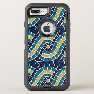 Wave Mosaic Pattern OtterBox Defender iPhone 8 Plus/7 Plus Case