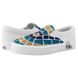 Wave Mosaic Pattern Slip-On Shoes