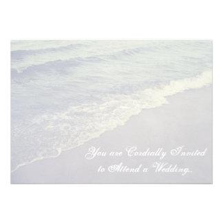 Wave on Beach Outdoor Nature Wedding Invitation