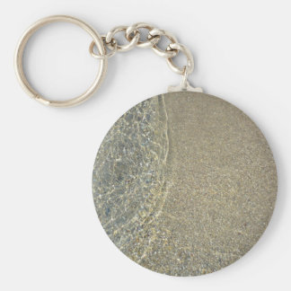 Wave on the sand key ring
