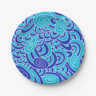 wave paper plate
