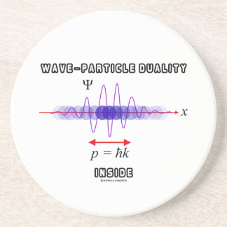 Wave-Particle Duality Inside Uncertainty Principle Drink Coaster